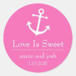 El amor del ancla del barco es etiquetas dulces (e pegatinas redondas