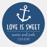 El amor del ancla del barco es las etiquetas dulce