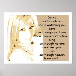 El amor del baile canta - el poster del arte