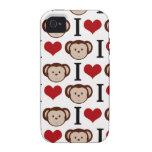 El amor del blanco I Monkeys el caso del iPhone 4 Vibe iPhone 4 Funda