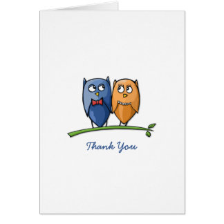 El amor del búho le agradece tarjeta de nota