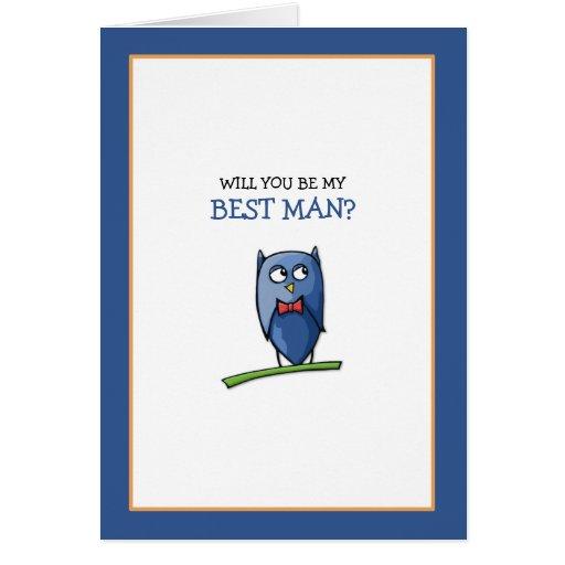El amor del búho sea mi mejor tarjeta del hombre