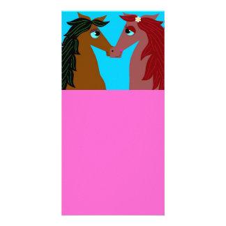 El amor del caballo diseñó la marca de libro tarjetas fotograficas personalizadas