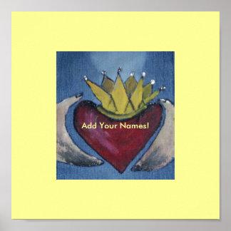 El amor del corazón de Claddagh Poster-Añade sus n