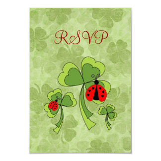 """El amor del día de St Patrick fastidia la tarjeta Invitación 3.5"""" X 5"""""""