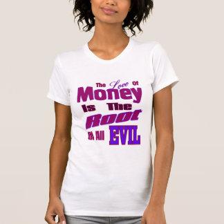 El amor del dinero es la raíz de todo el mal poleras