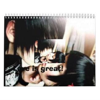 ¡el amor del emo, amor es grande! calendario