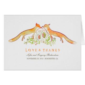 El amor del Fox rústico y caprichoso le agradece Tarjeta Pequeña