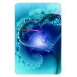 El amor del fractal del corazón inspiró arte abstr imanes de vinilo