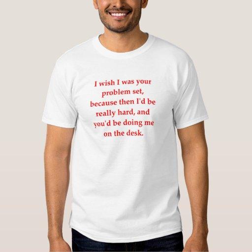 el amor del friki de la matemáticas coge la línea camisas