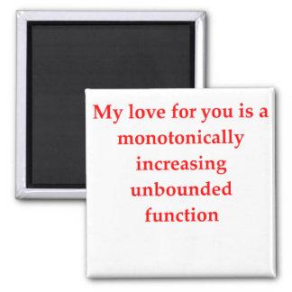 el amor del friki de la matemáticas coge la línea imán para frigorifico