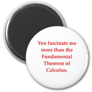 el amor del friki de la matemáticas coge la línea iman para frigorífico