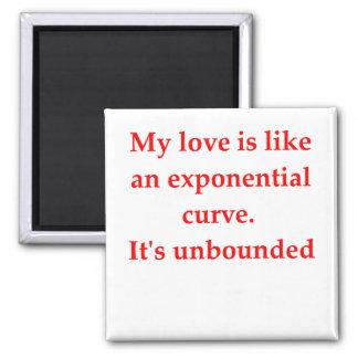 el amor del friki de la matemáticas coge la línea imanes para frigoríficos