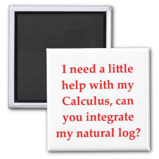 el amor del friki de la matemáticas coge la línea iman de frigorífico