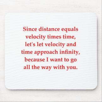 el amor del friki de la matemáticas coge la línea alfombrilla de ratón
