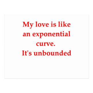 el amor del friki de la matemáticas coge la línea tarjeta postal