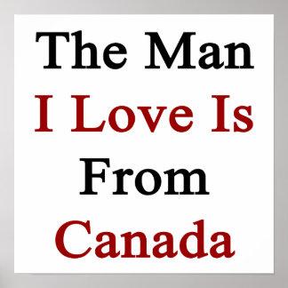 El amor del hombre I es de Canadá Poster