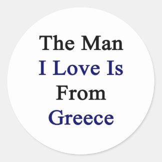 El amor del hombre I es de Grecia Pegatina Redonda