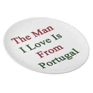 El amor del hombre I es de Portugal Plato De Cena
