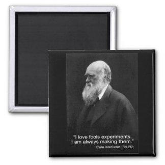 El amor del I de la cita de Darwin engaña experi Imán De Nevera