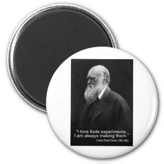El amor del I de la cita de Darwin engaña experi Imán Para Frigorífico