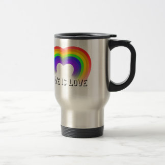 El amor del matrimonio homosexual es amor taza de viaje de acero inoxidable