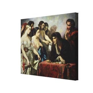 El amor del oro, 1844 impresion en lona