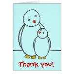 El amor del padre del pingüino le agradece tarjetón