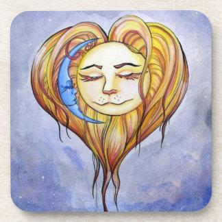 El Amor del Sol y la Luna Beverage Coaster