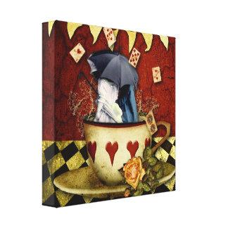 El amor del té estiró la impresión de la lona impresión en lona estirada