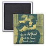 El amor del vintage, romance, romántico, ahorra la imanes de nevera