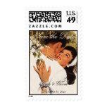 El amor del vintage, romance, romántico, ahorra la sello