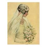 El amor del vintage, romance, romántico, ahorra la tarjeta postal