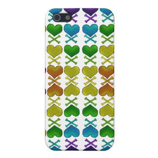 El amor deshuesa la caja de la mota del iPhone 4 iPhone 5 Carcasa
