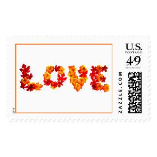 El amor en el otoño Estampilal De Boda Invitacione Postage Stamp