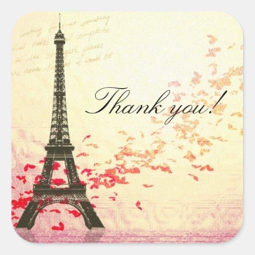 El amor en París le agradece pegatina