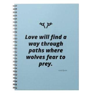 El amor encontrará una manera spiral notebooks