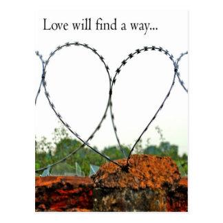 El amor encontrará una manera tarjeta postal