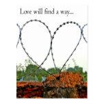 El amor encontrará una manera tarjetas postales