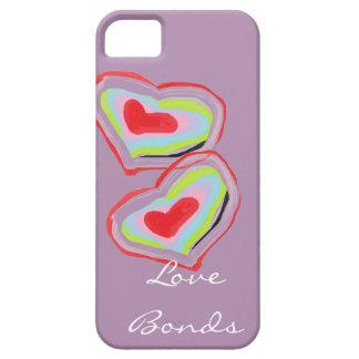 El amor enlaza la caja del teléfono iPhone 5 fundas
