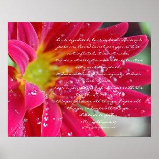 El amor es ..... 1 los Corinthians 13 Póster