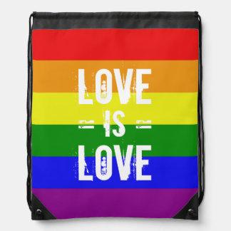 El amor es amor - ame la bandera del arco iris de mochila