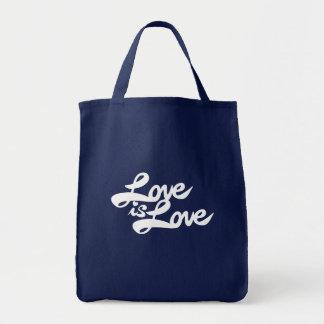 El amor es amor bolsa tela para la compra