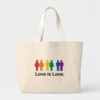 El amor es amor bolsa tela grande