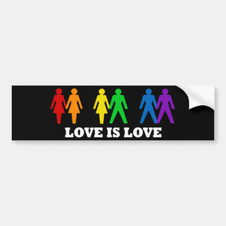 El amor es amor pegatina de parachoque