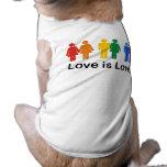 El amor es amor camiseta de mascota