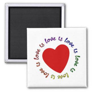 el amor es amor es amor… imán cuadrado