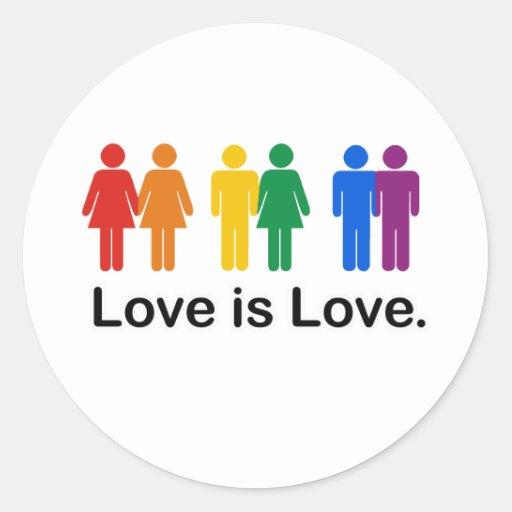 El amor es amor etiqueta redonda