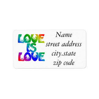 El amor es amor etiquetas de dirección