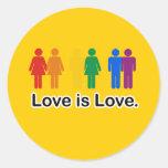 El amor es amor etiquetas redondas
